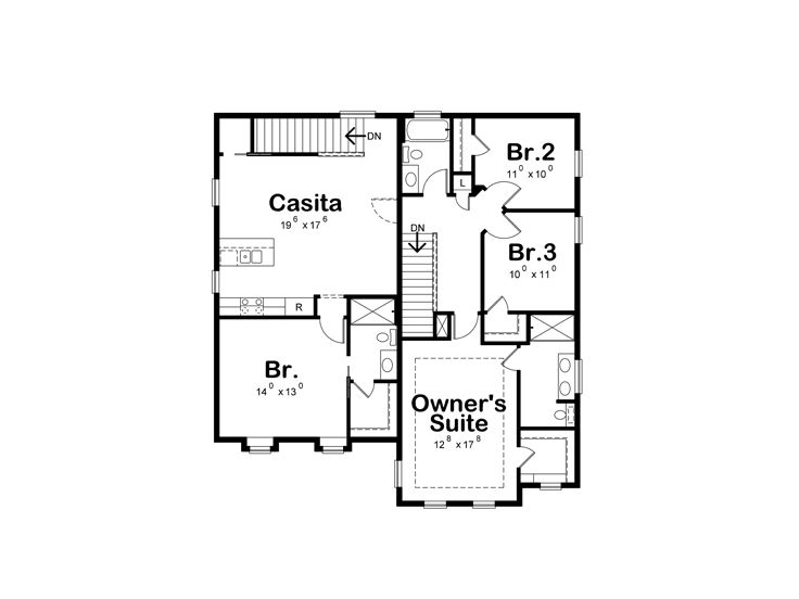 2nd Floor Plan, 031H-0366