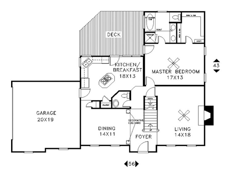 1st Floor Plan, 007H-0058
