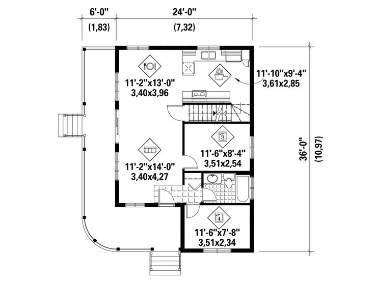 1st Floor Plan, 072H-0204