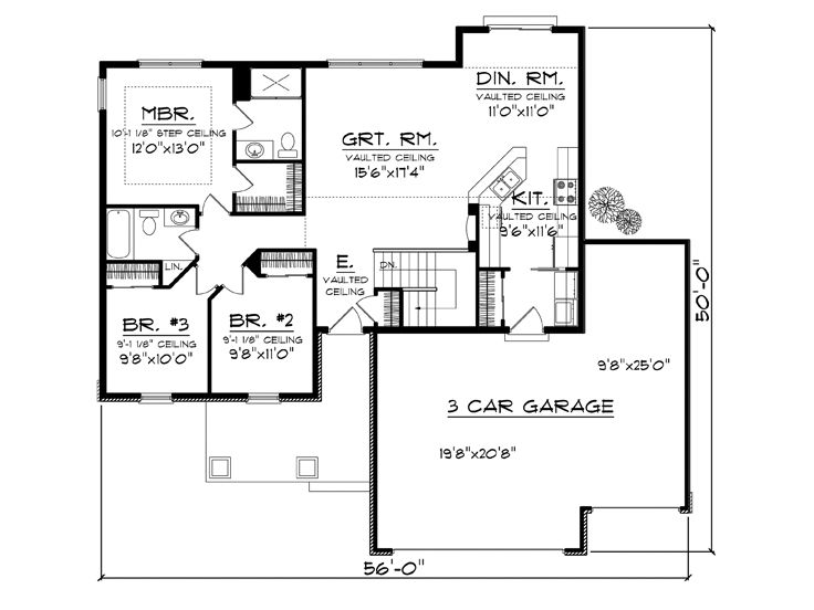 Affordable house plans affordable one story family home for Affordable one story house plans