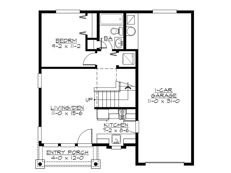 Garage apartment plans 2 bedroom garage apartment plan for Small apartment layout plans