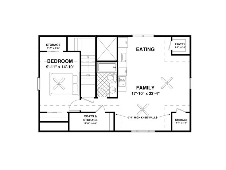 Carriage house plans 1 bedroom garage apartment 007g for Garage apartment plans 1 bedroom
