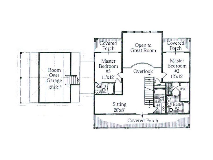 2nd Floor Plan, 041H-0055