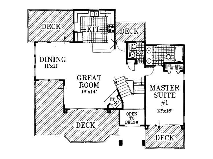 2nd Floor Plan, 041H-0014