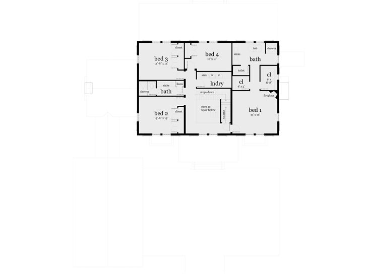 2nd Floor Plan, 052H-0015