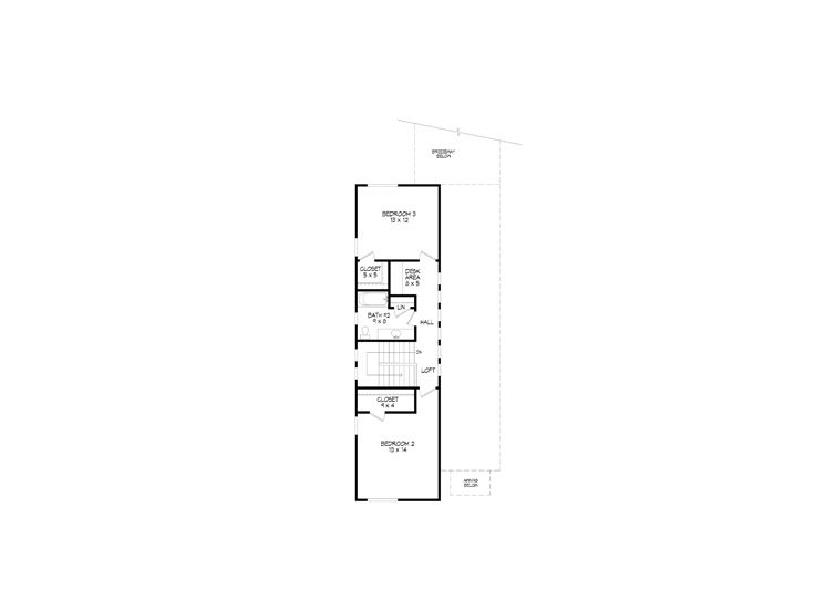 2nd Floor Plan, 062H-0069