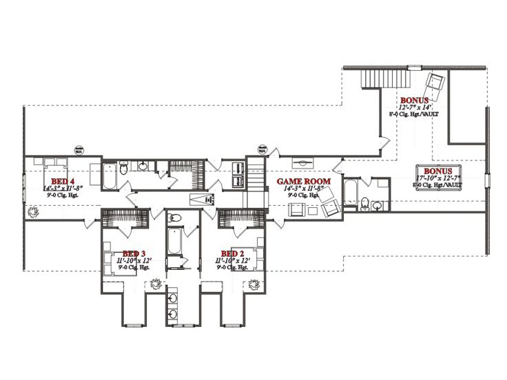 2nd Floor Plan, 073H-0059