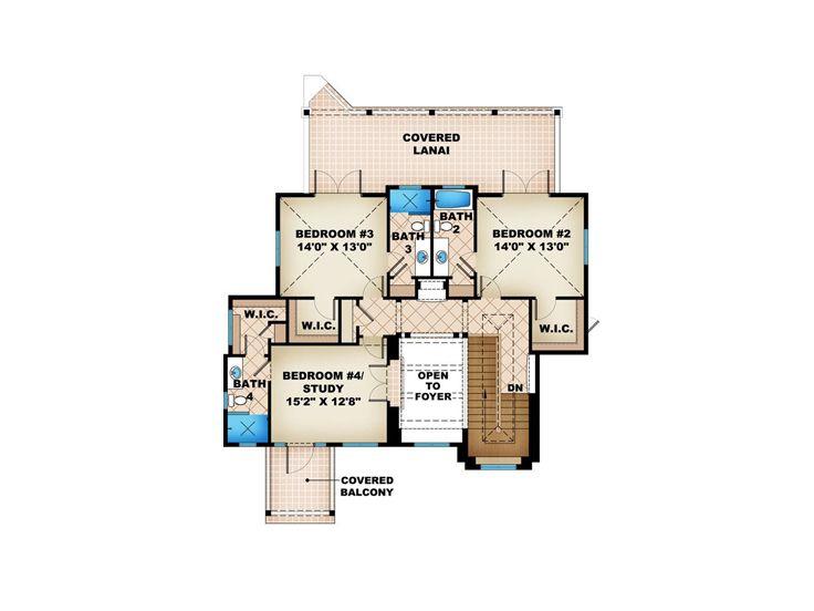 Beach house plans two story beach home plan 037h 0192 for 2 story beach house plans