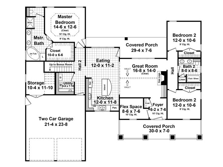 Craftsman Home Plans One Story Craftsman House Plan With