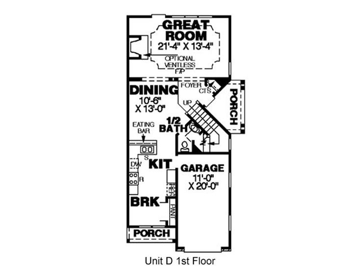 1st Floor Plan D
