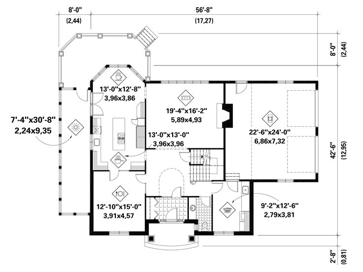 1st Floor Plan, 072H-0229