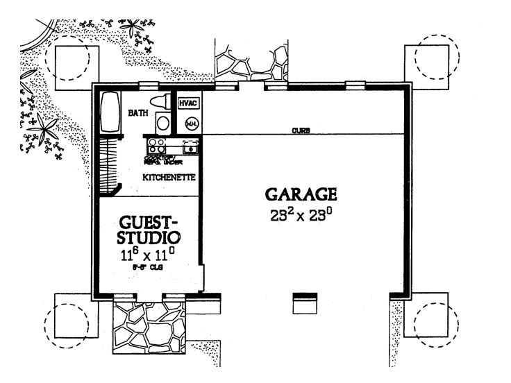 Garage apartment plans 2 car garage plan with guest for Garage guest house floor plans
