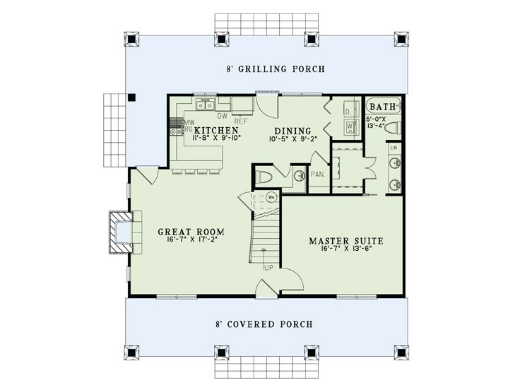 1st Floor Plan, 025H-0317