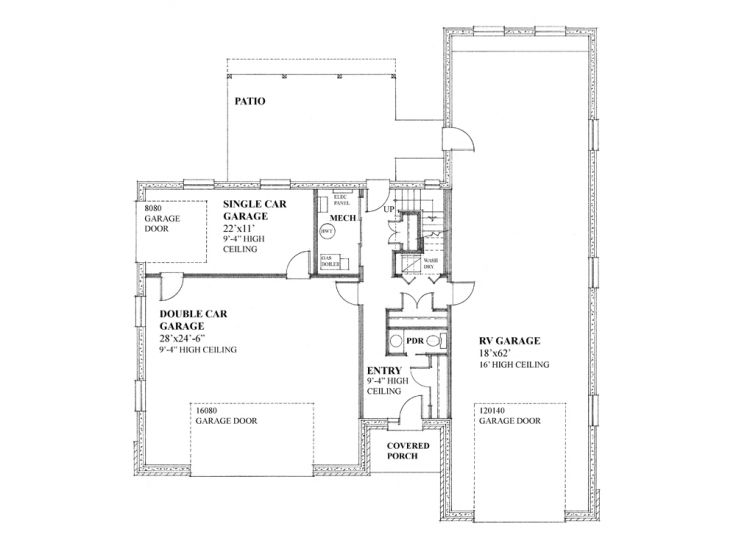 Unique garage plans unique garage apartment plan with rv for Rv apartment plans