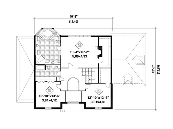 2nd Floor Plan, 072H-0229