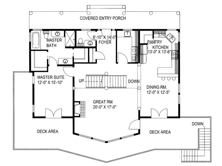 1st Floor Plan, 012H-0127