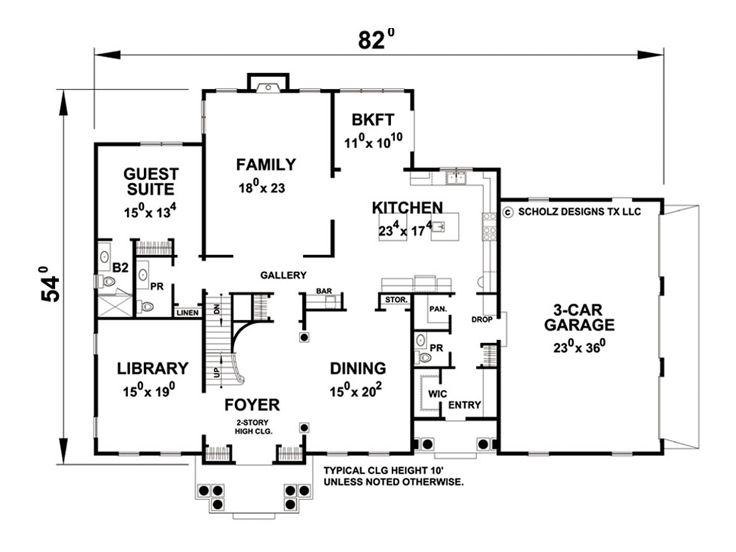 1st Floor Plan, 031H-0278