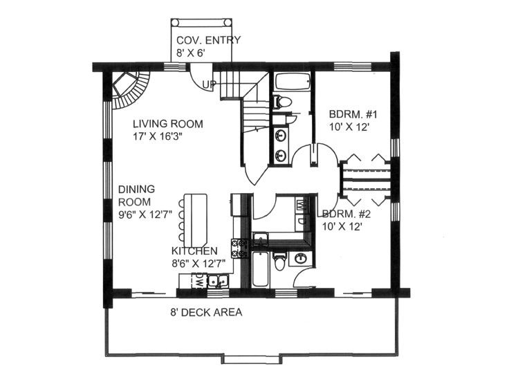 1st Floor Plan, 012L-0077