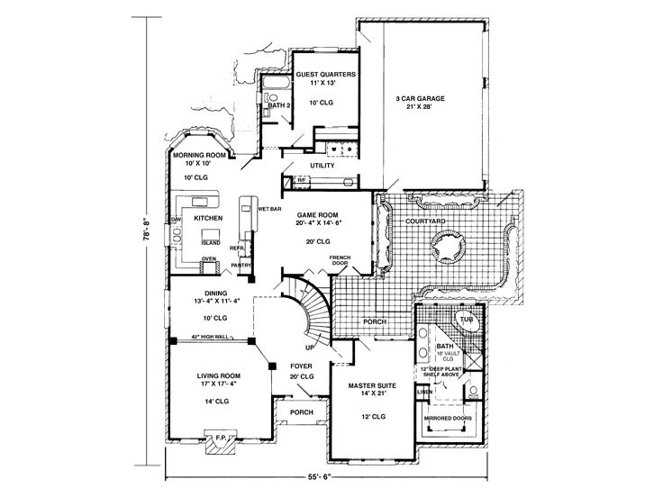 1st Floor Plan, 054H-0131