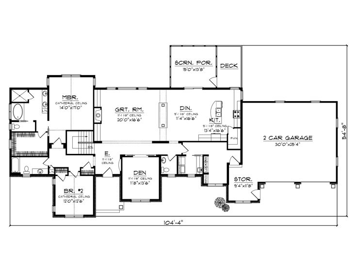 Empty Nester House Plans Ranch Empty Nester Home Plan