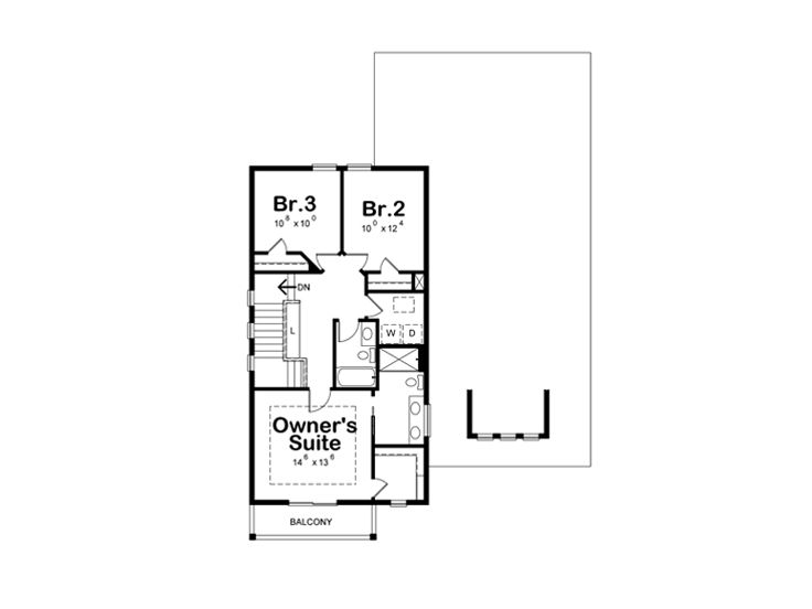 2nd Floor Plan, 031H-0391