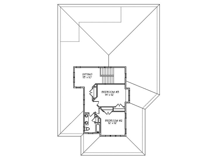 2nd Floor Plan, 041H-0107