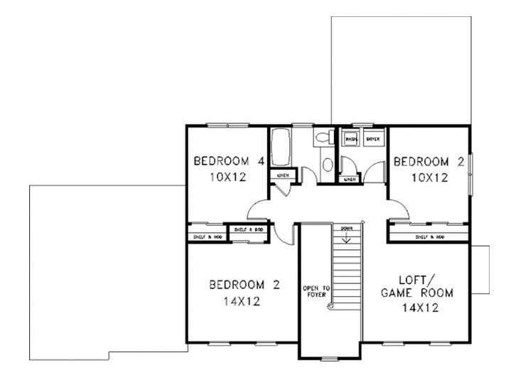 2nd Floor Plan, 007H-0058