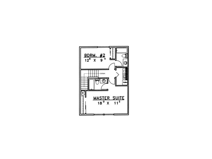 2nd Floor Plan, 012M-0003