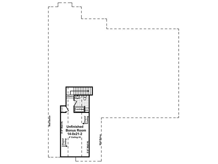 2nd Floor Plan 001H-0221