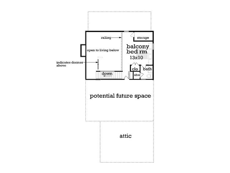 2nd Floor Plan, 021H-0261