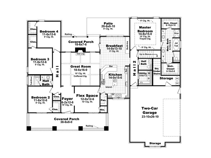 images of floor plans plan 001h 0187 find unique house plans home plans and 18768