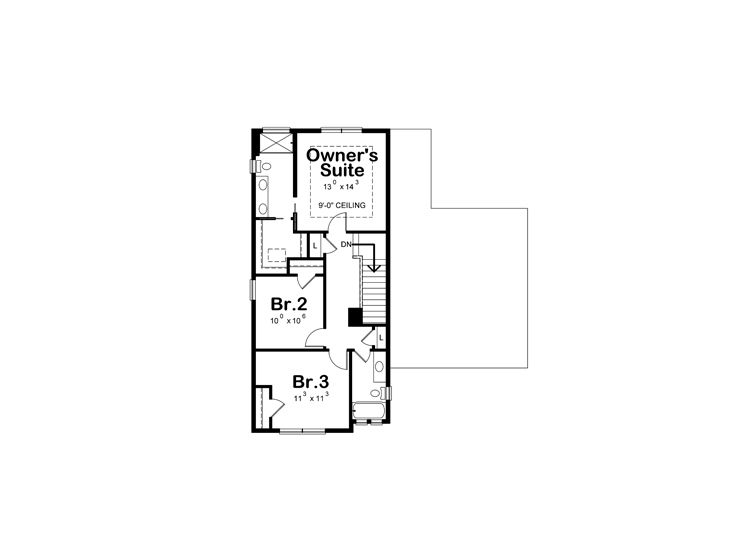 2nd Floor Plan, 031H-0358
