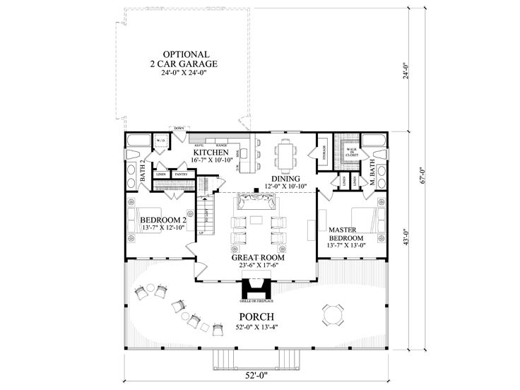 1st Floor Plan, 063H-0215