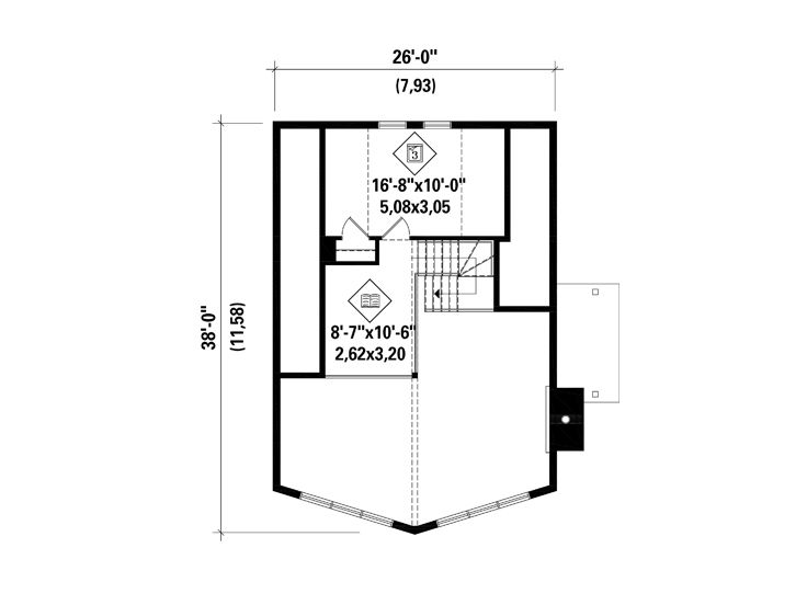 2nd Floor Plan, 072H-0206