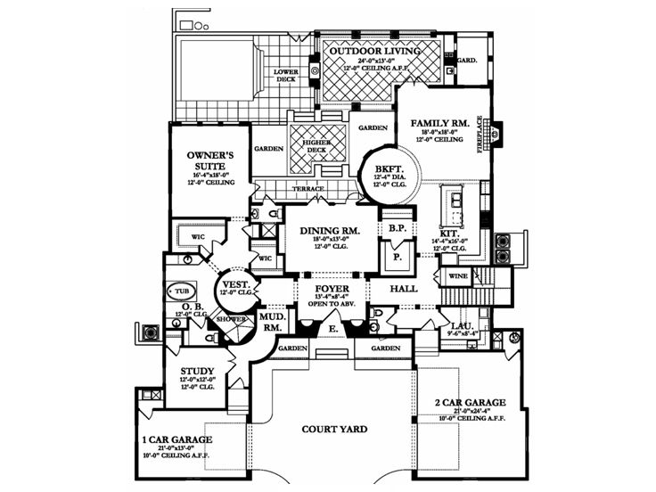 1st Floor Plan, 064H-0090