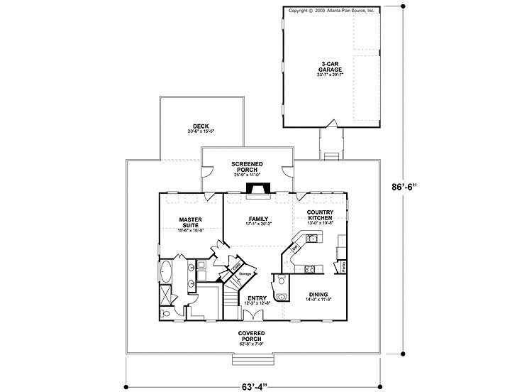 1st Floor Plan, 007H-0061