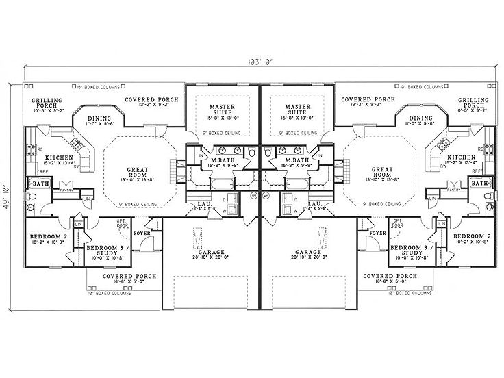 Plan 025m 0016 find unique house plans home plans and Unique duplex plans