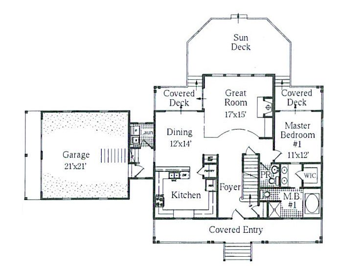 1st Floor Plan, 041H-0055