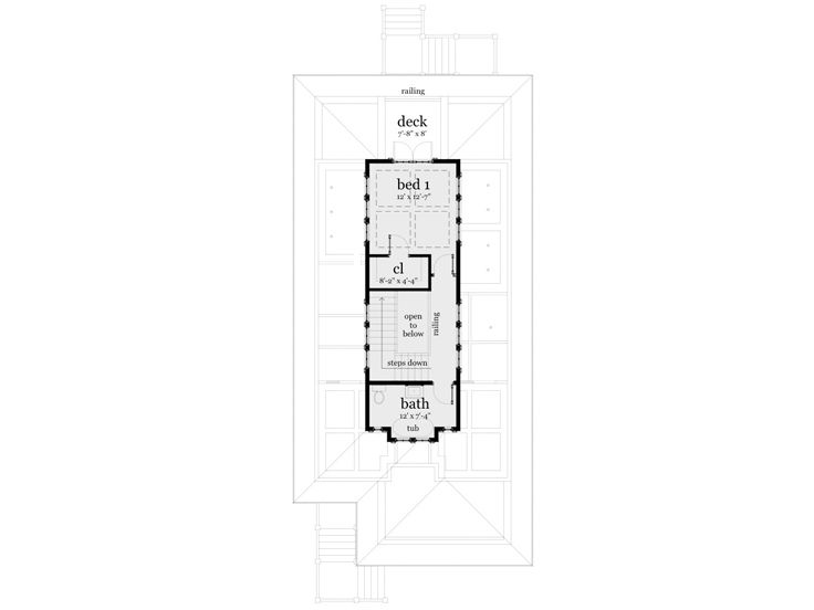 2nd Floor Plan, 052H-0092