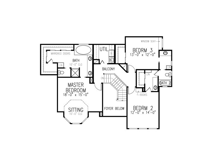 2nd Floor Plan, 054H-0132