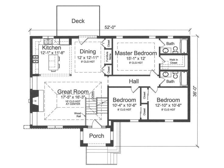 Split-Level House Plans | Split-Level Home Plan with 3 ... on 2 bedroom split level floor plans, 3 bedroom cottage house plans, 4 bedroom split level floor plans,