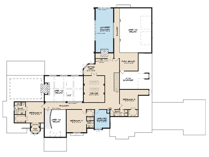 2nd Floor Plan, 075H-0018