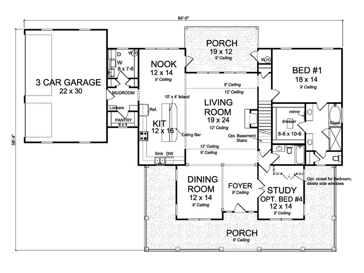 1st Floor Plan, 059H-0206