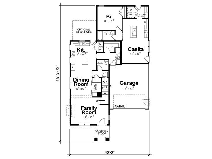 1st Floor Plan, 031H-0358