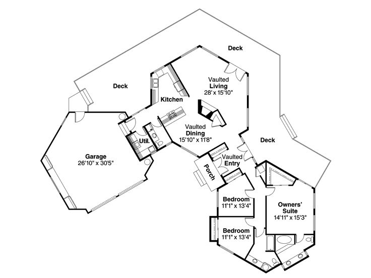 Plan 051h 0003 find unique house plans home plans and for Unusual floor plans