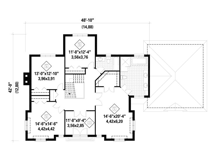 2nd Floor Plan, 072H-0117