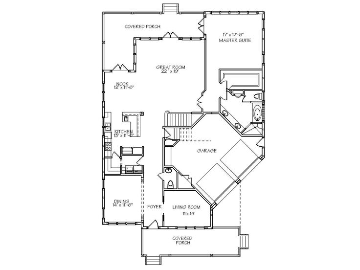 1st Floor Plan, 041H-0107