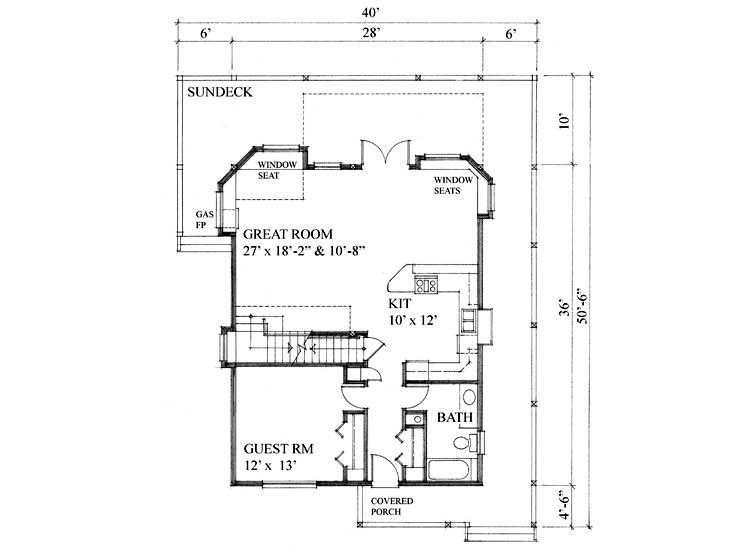 1st Floor Plan, 010H-0013