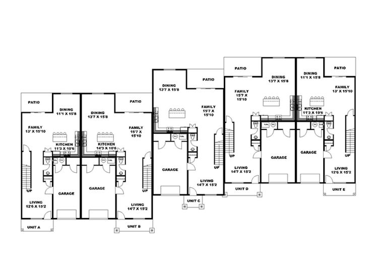 1st Floor Plan, 012M-0008