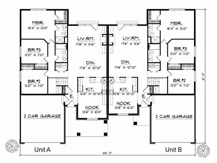 Plan 020m 0013 find unique house plans home plans and Unique duplex plans